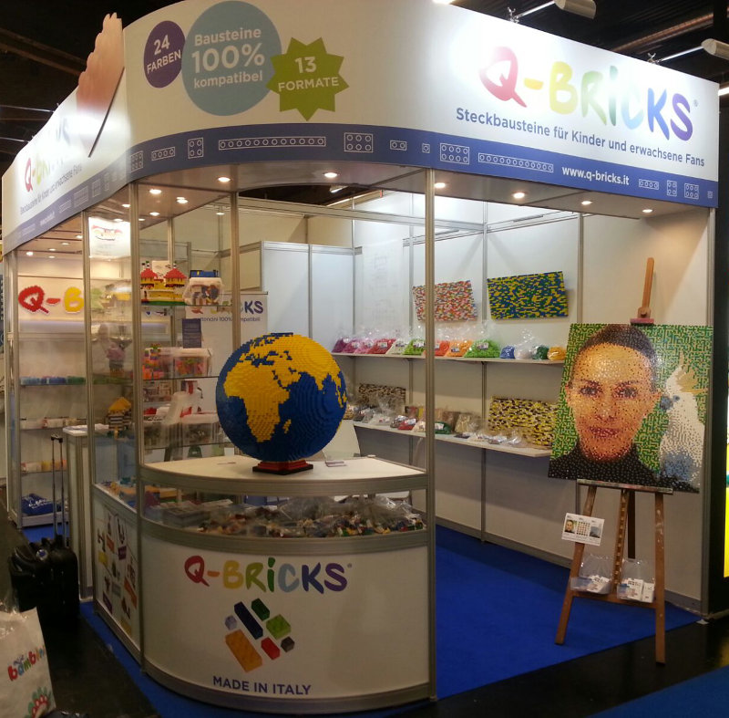 Booth Q-Bricks #Spielwarenmesse2017 - Booth 5 D/49