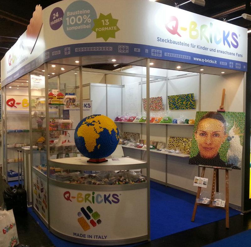 Booth Q-Bricks #Spielwarenmesse2017 - Booth 5 D/49