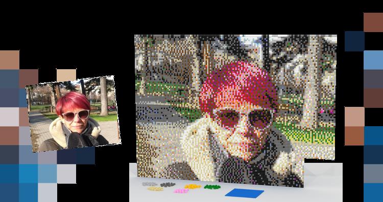 Brick my Photo Mosaici realizzati in mattoncini