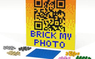 QR-Code in mosaico di mattoncini 2x2 basi