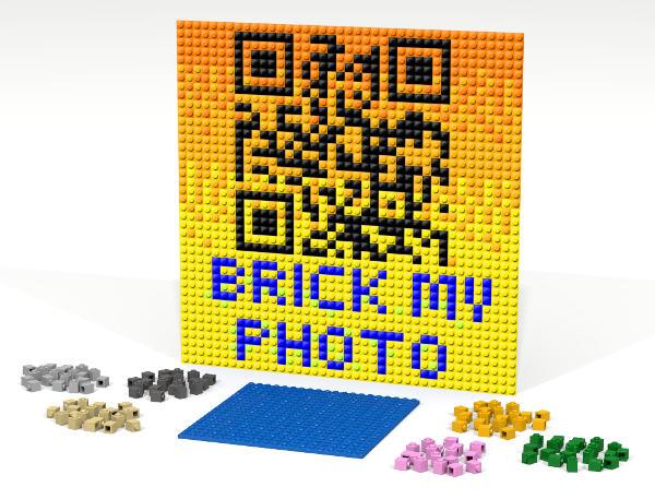 Crea il tuo QR code con un mosaico di mattoncini colorati