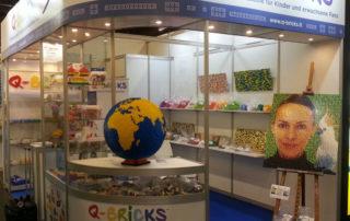 Stand Q-Bricks #Spielwarenmesse2017 - Booth 5 D/49